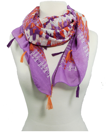 Feather Square Scarf - on model