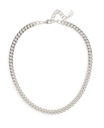 Flat Chain Necklace in Silver