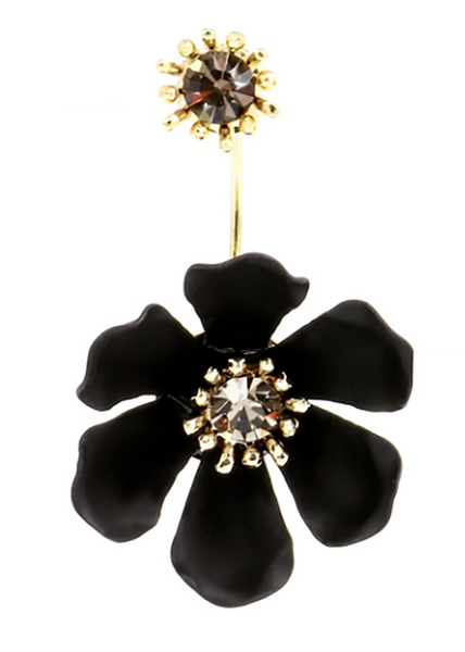 Flower Party Floating Earrings black