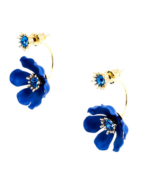 Flower Party Floating Earrings blue
