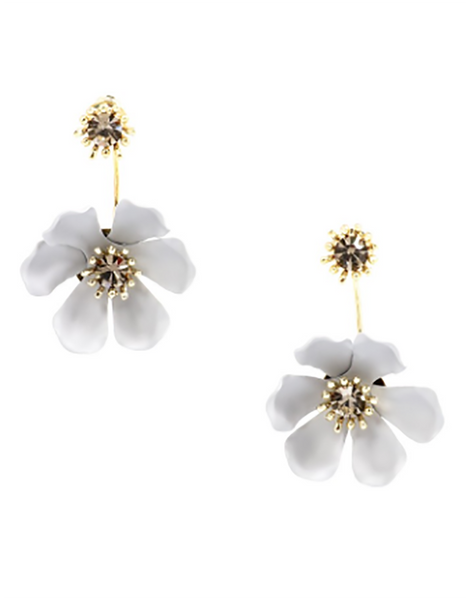 Flower Party Floating Earrings gray