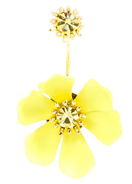 Flower Party Floating Earrings yellow