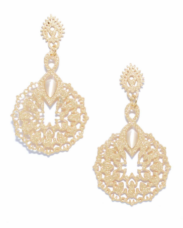 Gems and Lace Drop Earrings