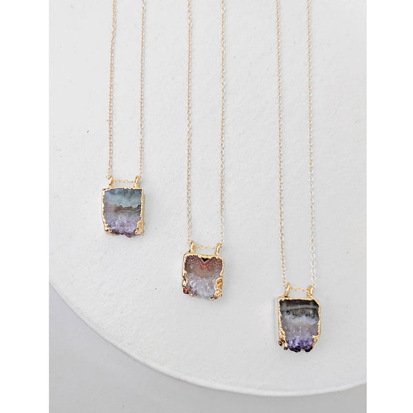 Geode Slab Pendant Necklace