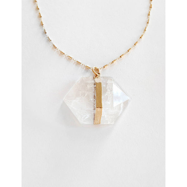 Geometric Extra Large Crystal Necklace