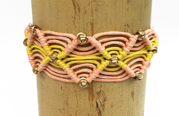 Gigi Friendship Bracelet Peach and Yellow