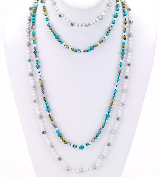 Glass Beaded Long Necklace