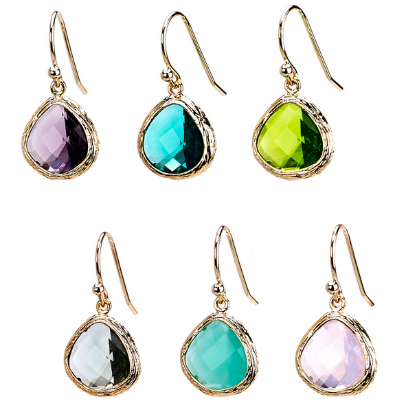 Glass Dangle Earrings