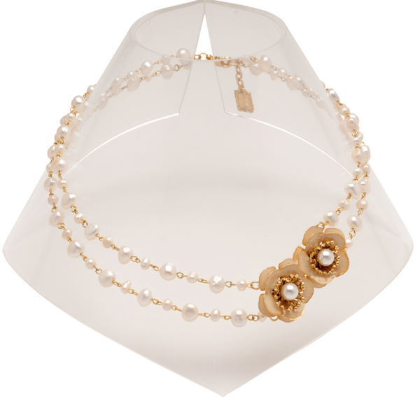 gold Delicate Fresh Waterpearl Necklace