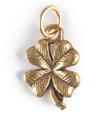 four leaf clover gold