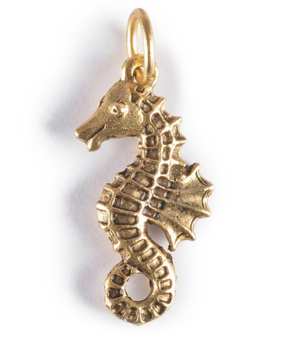 seahorse charm gold