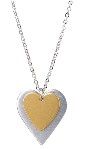 Gold Over Silver Heart Pendant