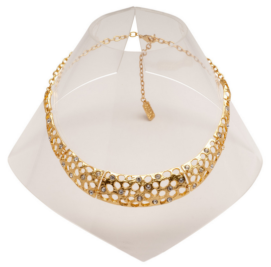 Gold Cut-Out Collar Necklace
