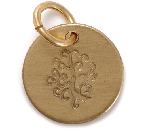 gold stamped tree of life