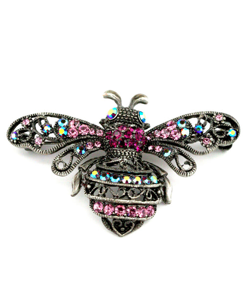 Vintage Purple Insect Brooch