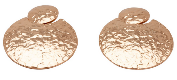 Hammered Discs Earrings rg