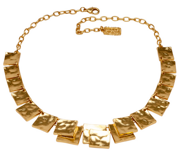 Hammered Squares Necklace view