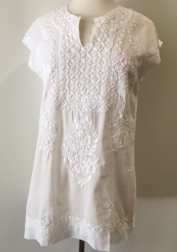 Hand Embroidred Tunic Top