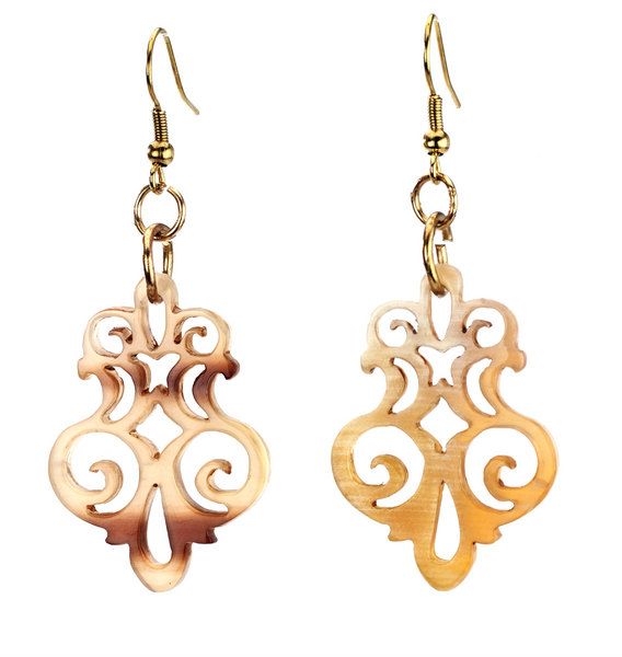 Horn Filigree Earrings