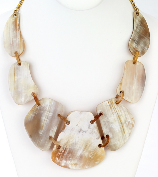 Horn Shield Statement Necklace