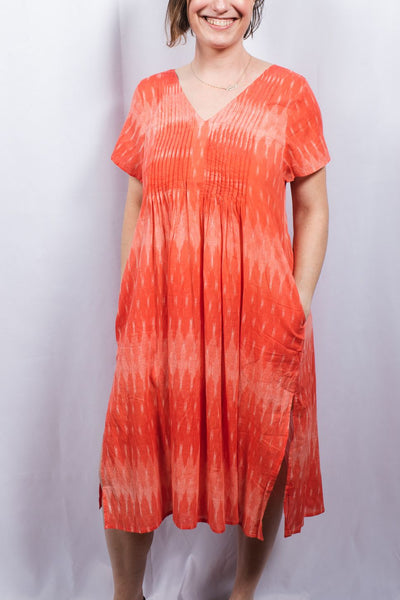 Ikat Dye Tunic Dress