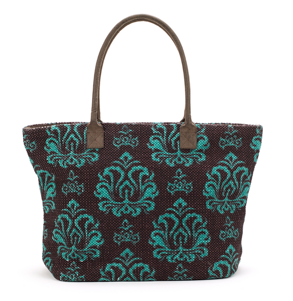 Indian Dhurrie Tote Bag Brown