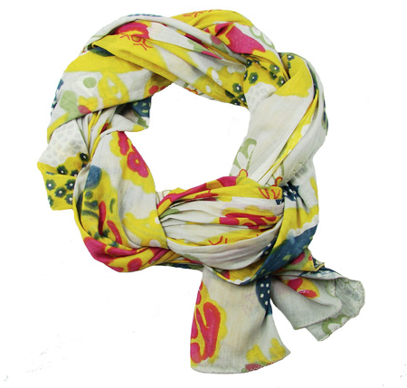 Japanese Garden Scarf - Cream