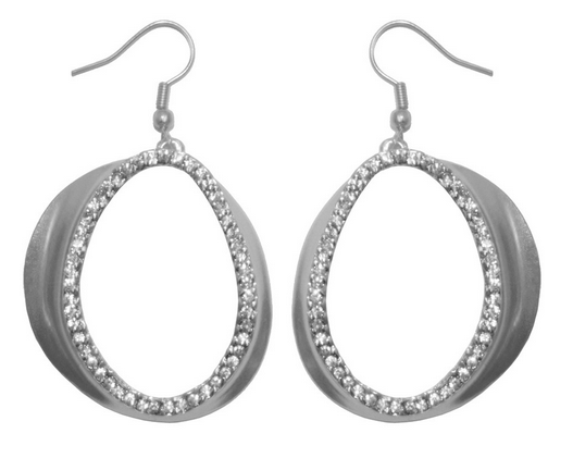 Jena Crystal Earrings - Silver