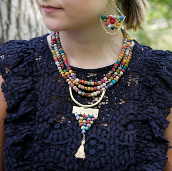 Kantha Amulet Necklace