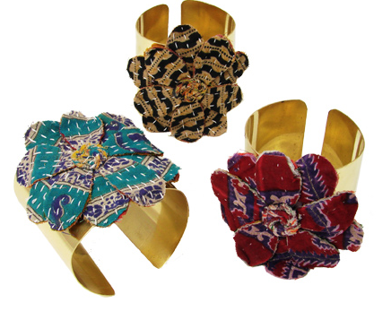 Kantha Flower Cuff Assorted