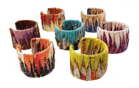 Kantha Woven Ribbon Cuff colors