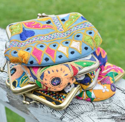 Kutch Embroidered Kisslock Bag view