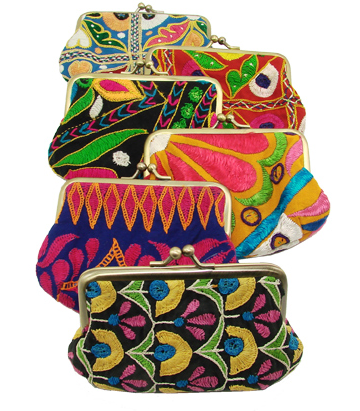 Kutch Embroidered Kisslock Bags