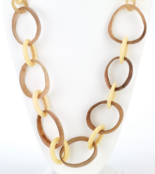 Large Horn Links Long Necklace