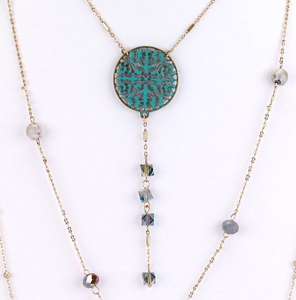 Layered Patina Necklace