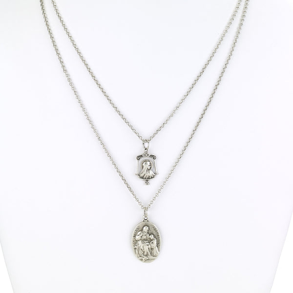 Layered Religious Charms Necklace