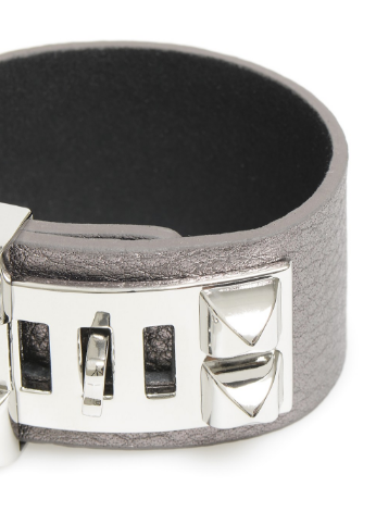 Leather Latch Bracelet gray