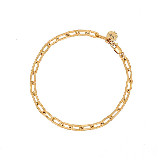 bracelet - Lia Paperclip Chain Bracelet Gold Filled - Girl Intuitive - Mod + Jo -