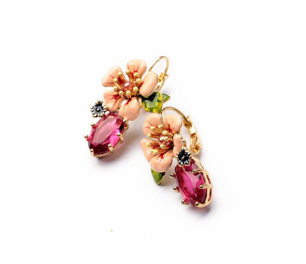 Lily Flower Drop Earrings side