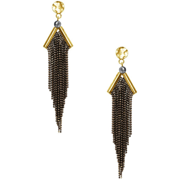 Lina Earrings in Gold Black