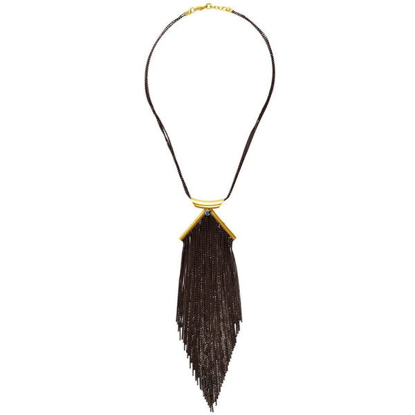 Lina Necklace in Gold Black