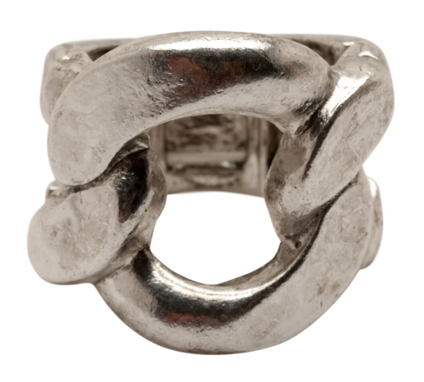 Link Stretch Ring silver
