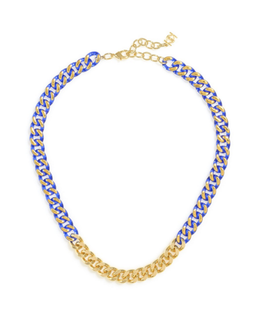 Links In Color Necklace blue