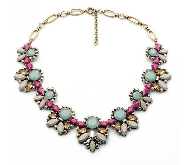 Fall Hues Vintage Style Statement Necklace