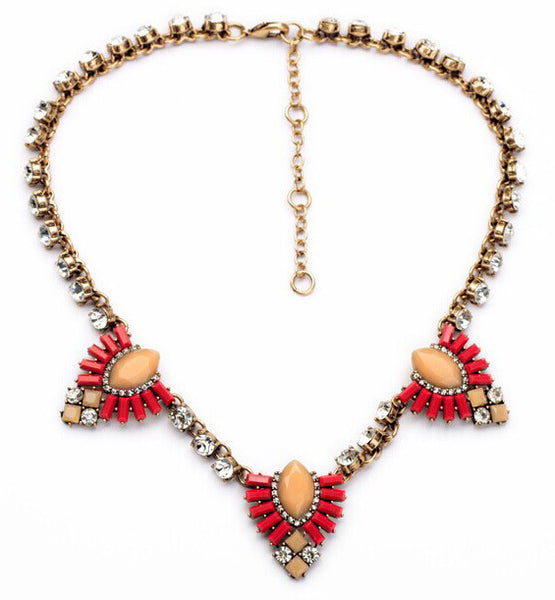 Ruby Red Western Statement Necklace