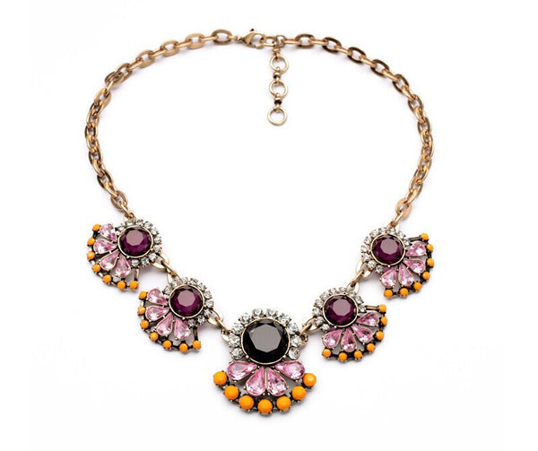 Marsala Statement Necklace