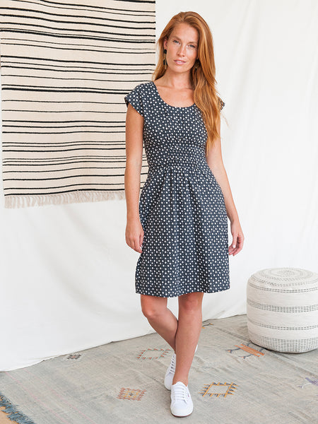 Mata Traders Artsy Traveler Dress Black Dots