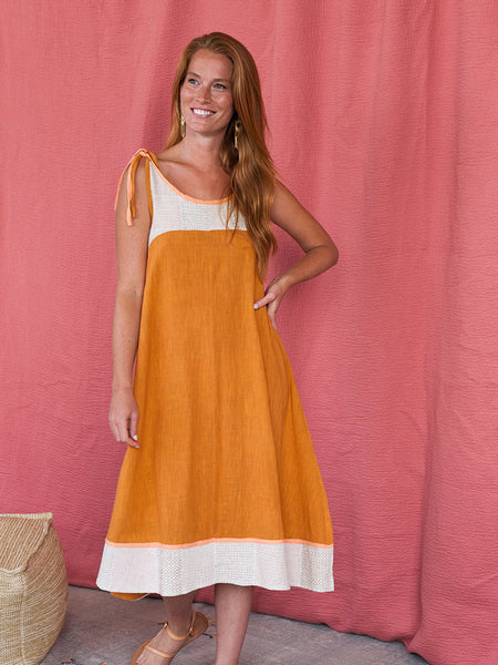 Mata Traders Stevie Swing Dress Ochre