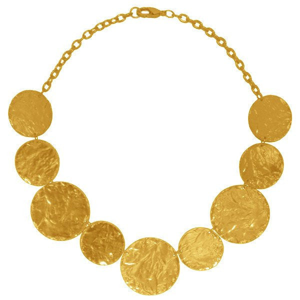 Medallion Discs Collar Necklace gold