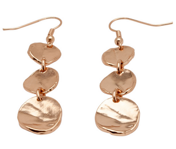 Medallions Dangle Earrings rose gold
